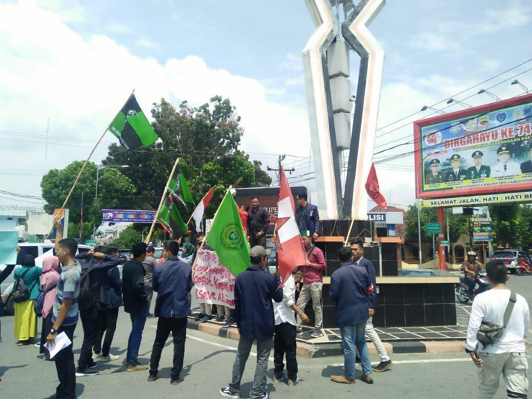 Aksi Mahasiswa Labuhanbatu, Ini Tuntutan Tegas Kodim/P untuk Kapolres