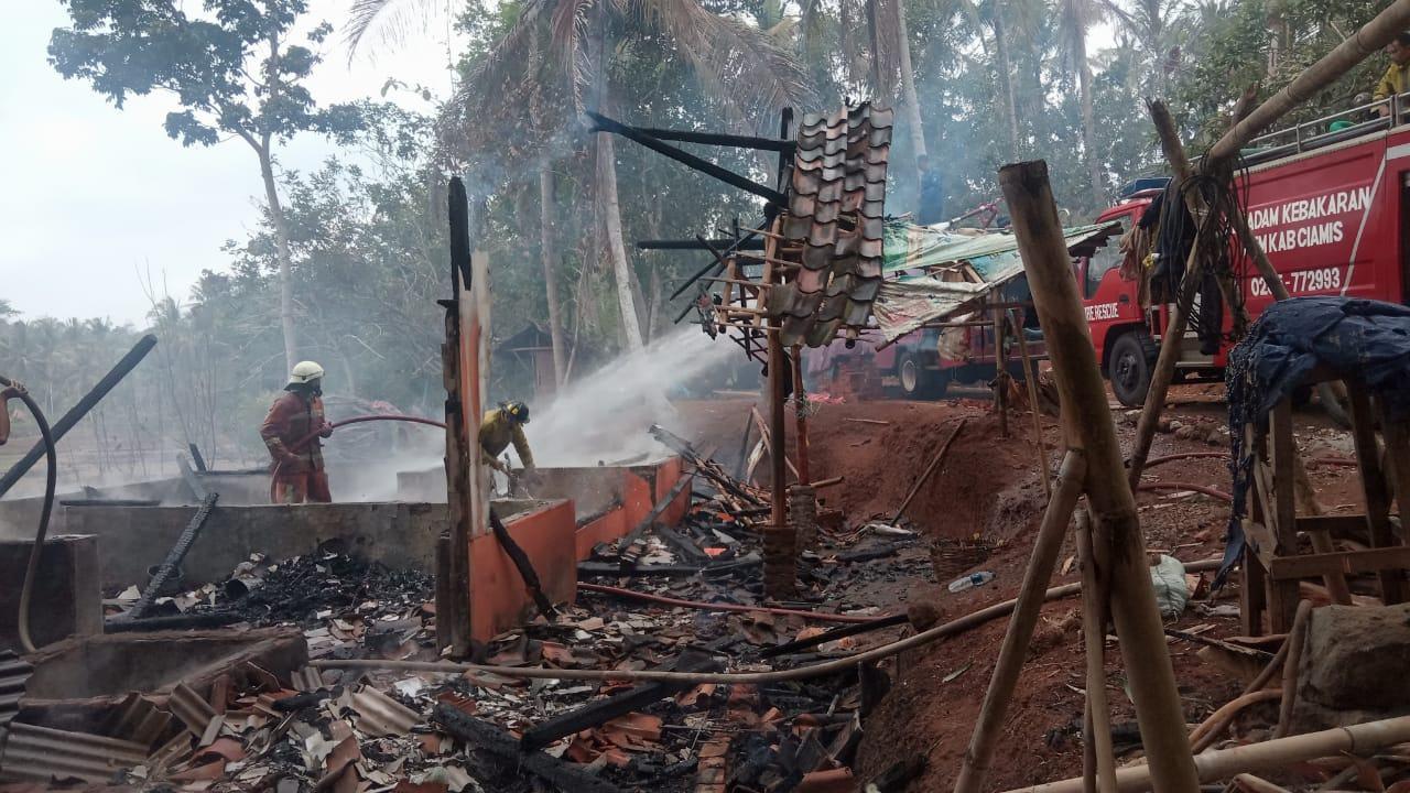 Kebakaran Rumah Ciamis, Diduga Kompor Gas