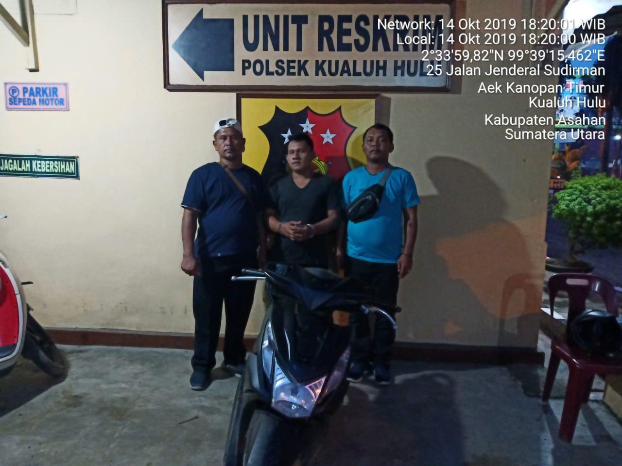 Warga Labuhanbatu Utara, Minjam Sepeda Motor Berakhir di Kantor Polisi