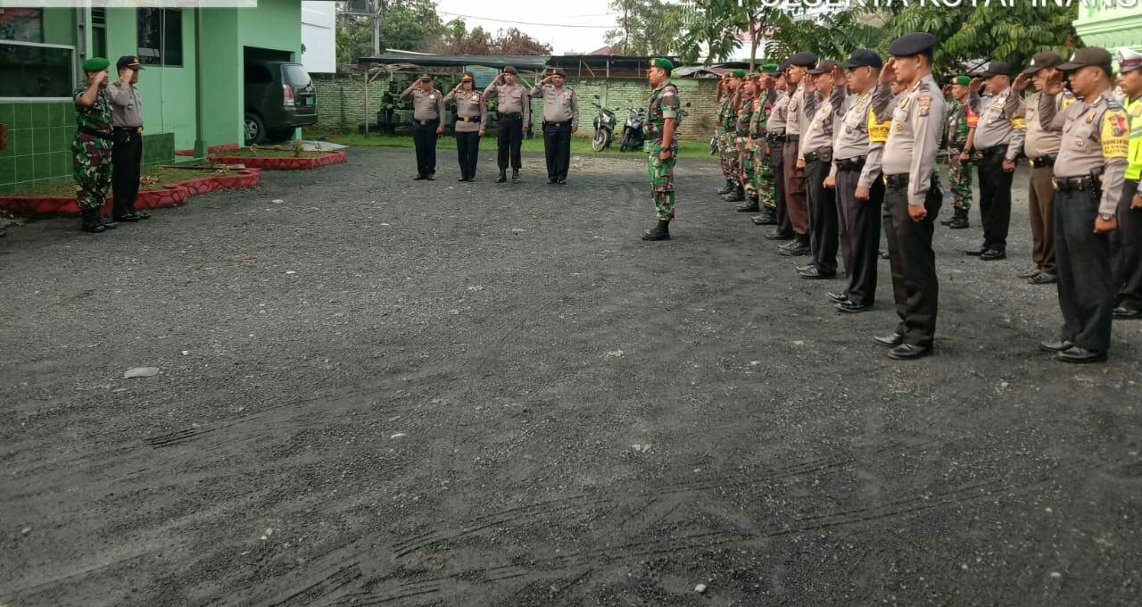 Jelang Pelantikan Presiden, Polsekta Kotapinang dan Koramil 11 Gelar Patroli Gabungan