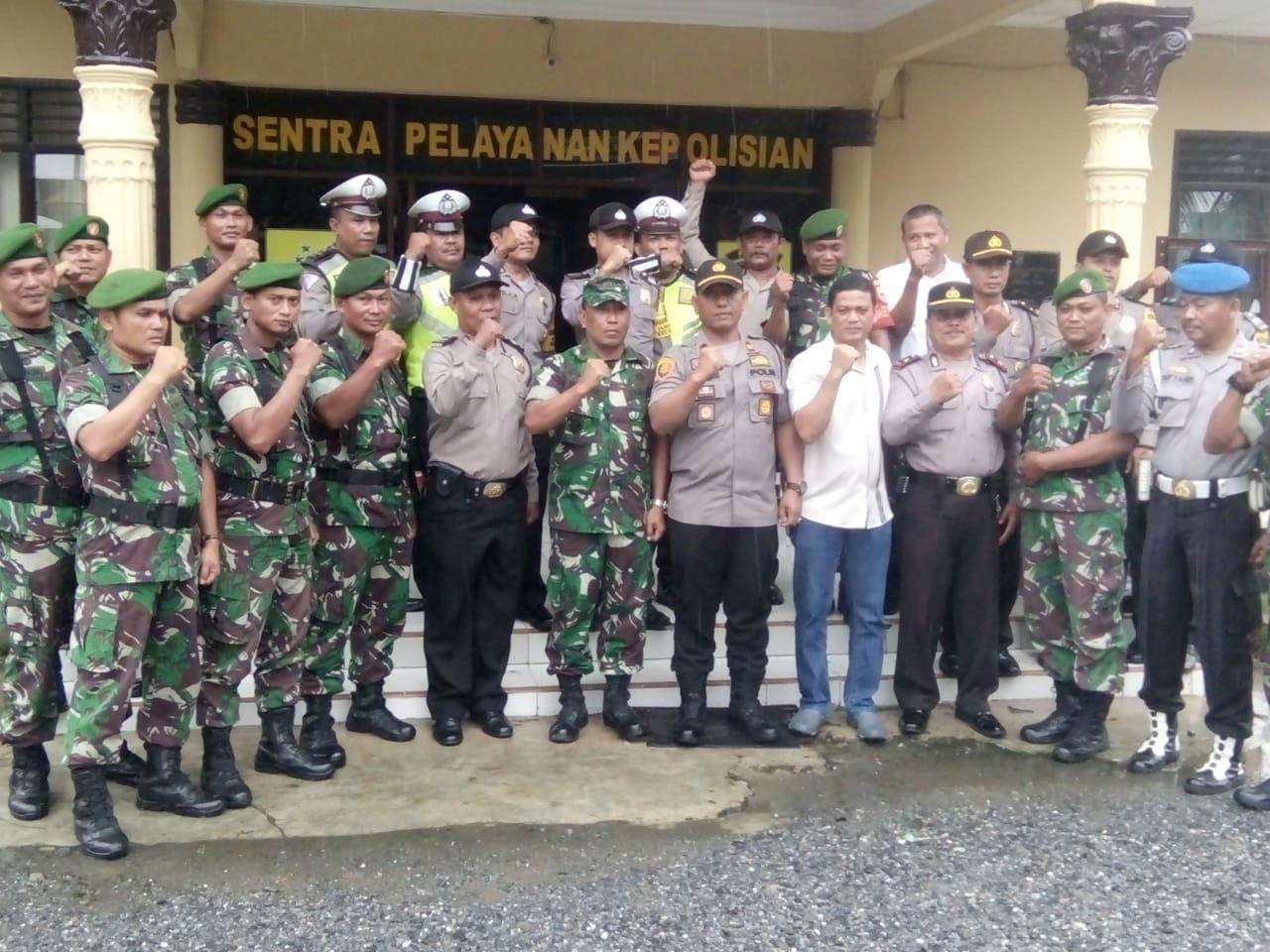 Jelang Pelantikan Presiden, Polsek Aek Natas dan Koramil 05/BD Jaga Stabilitas Kamtibmas