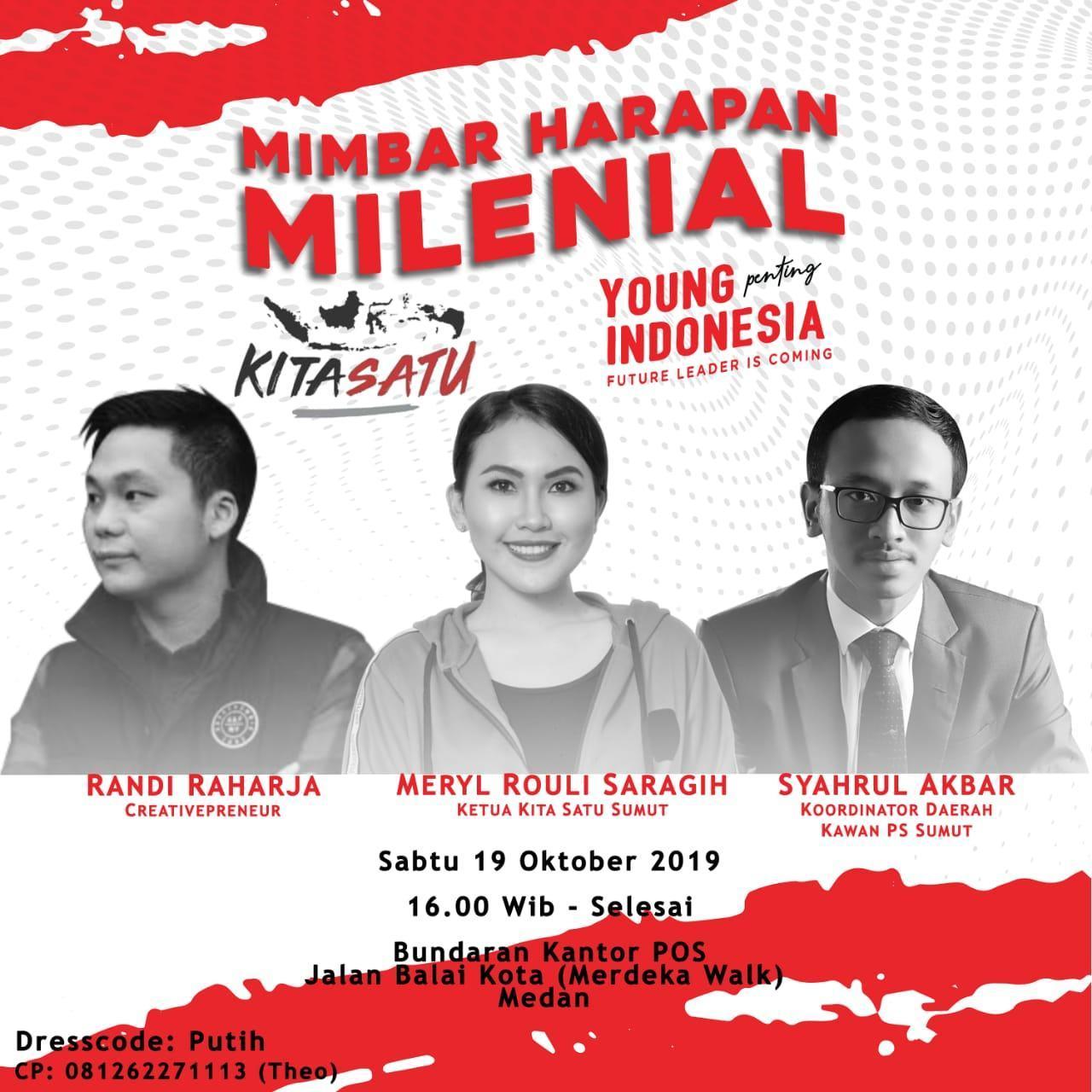 "Milenial ""Kita Satu"", Panggung Harapan Sumatera Utara"