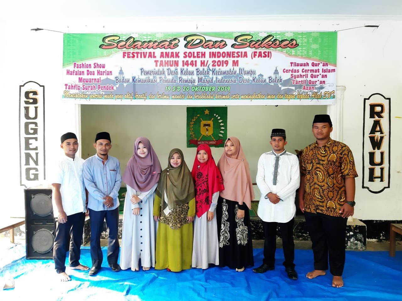Festival Anak Soleh Indonesia, Jadi Ajang Belajar Anak Kebun Balok