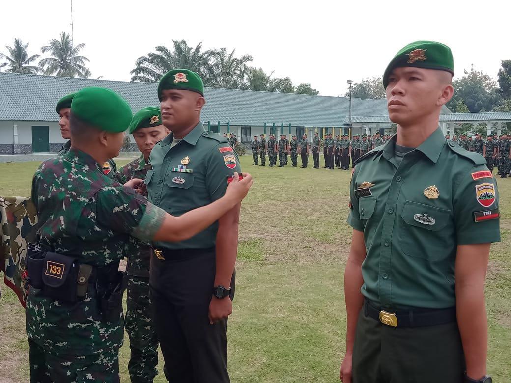 Danyonif 133/YS, Pimpin Upacara Korps Kenaikan Pangkat dan Pindah Satuan