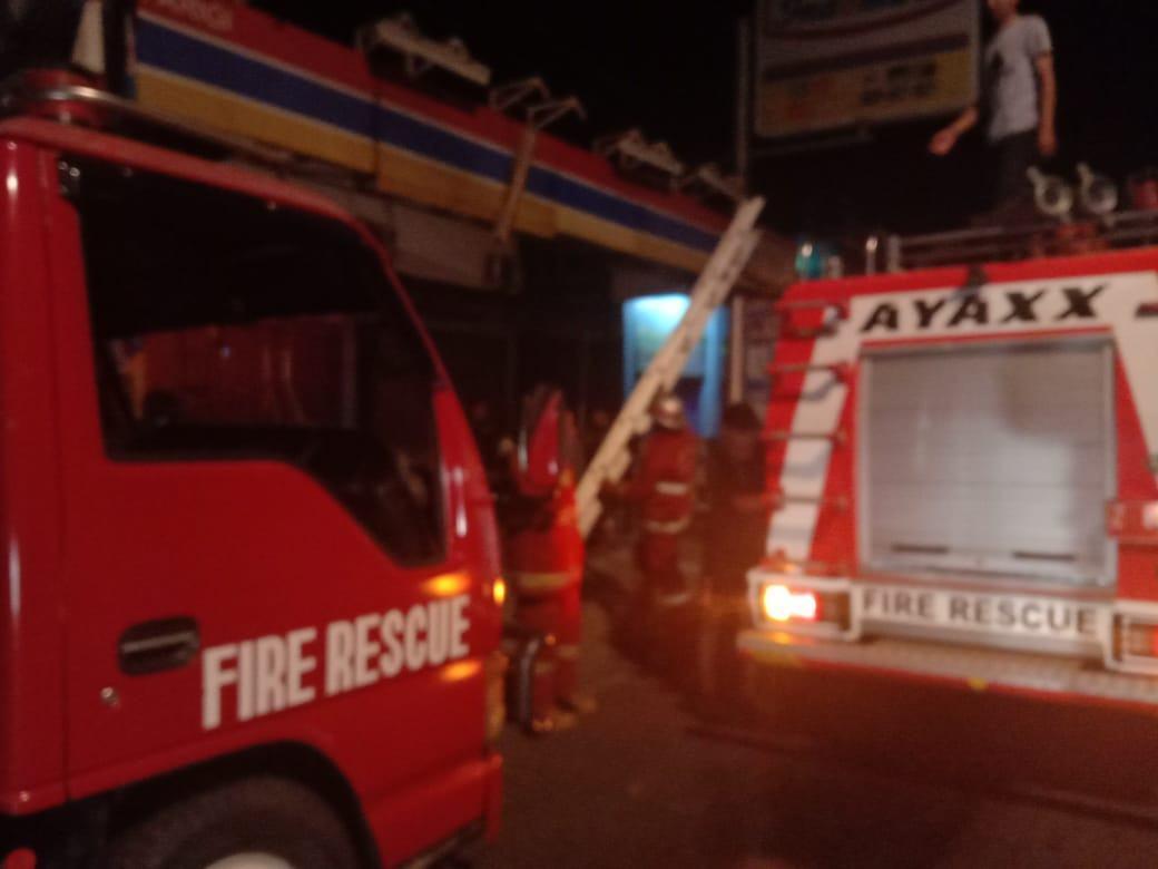 Indomaret Pangandaran Terbakar, Diduga Korsleting Listrik