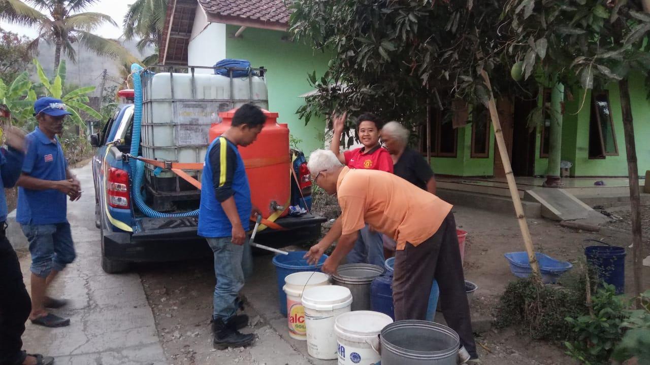 Bencana Kekeringan Ciamis, Tagana Ciamis Distribusikan Air Bersih