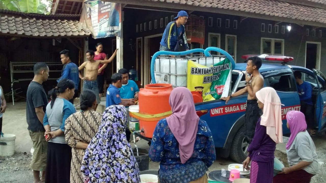 Tagana Ciamis, Lakukan Droping Air Bersih