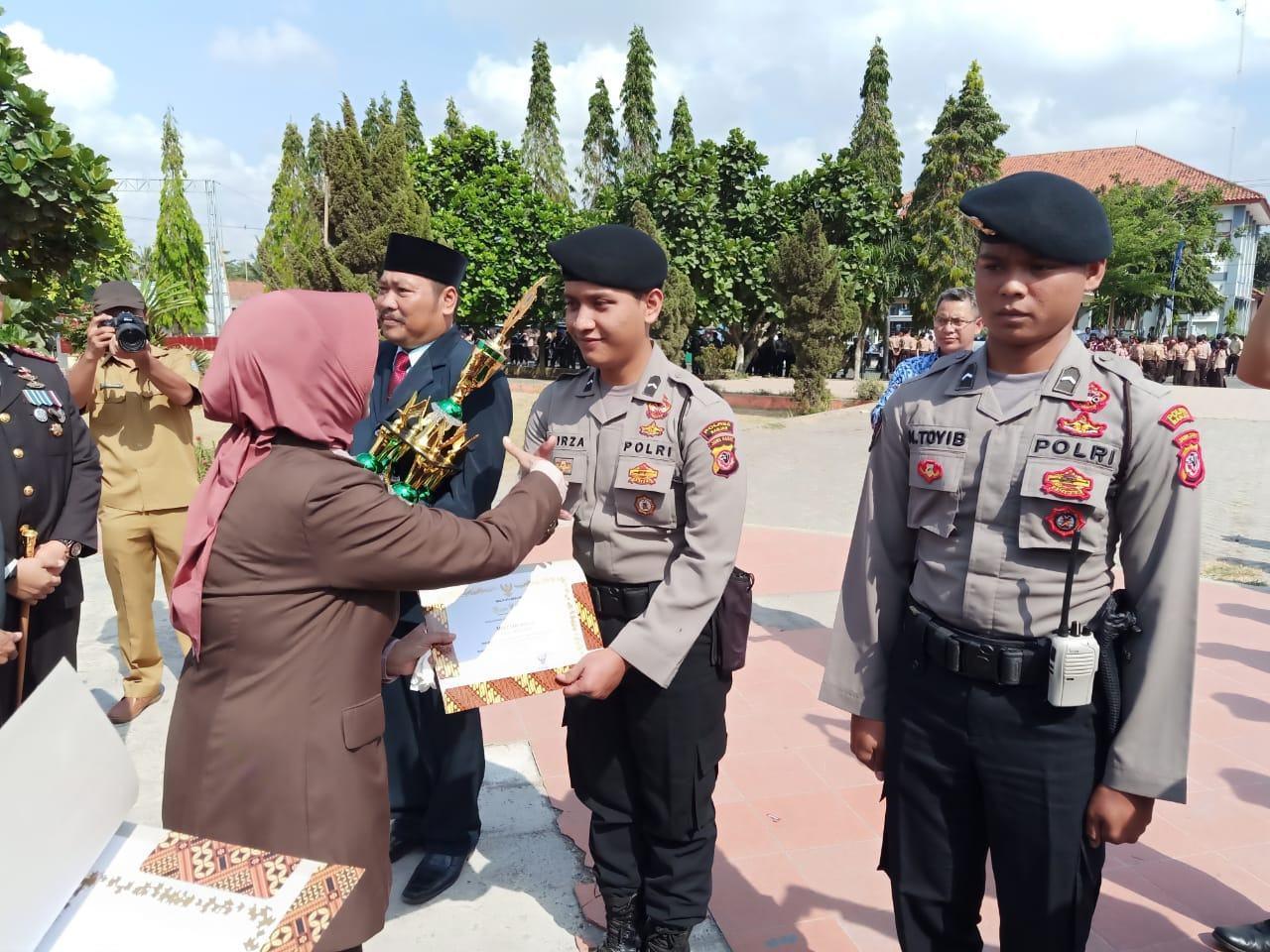 Sat Sabhara Polres Banjar, Terima Reward dari Walikota Banjar