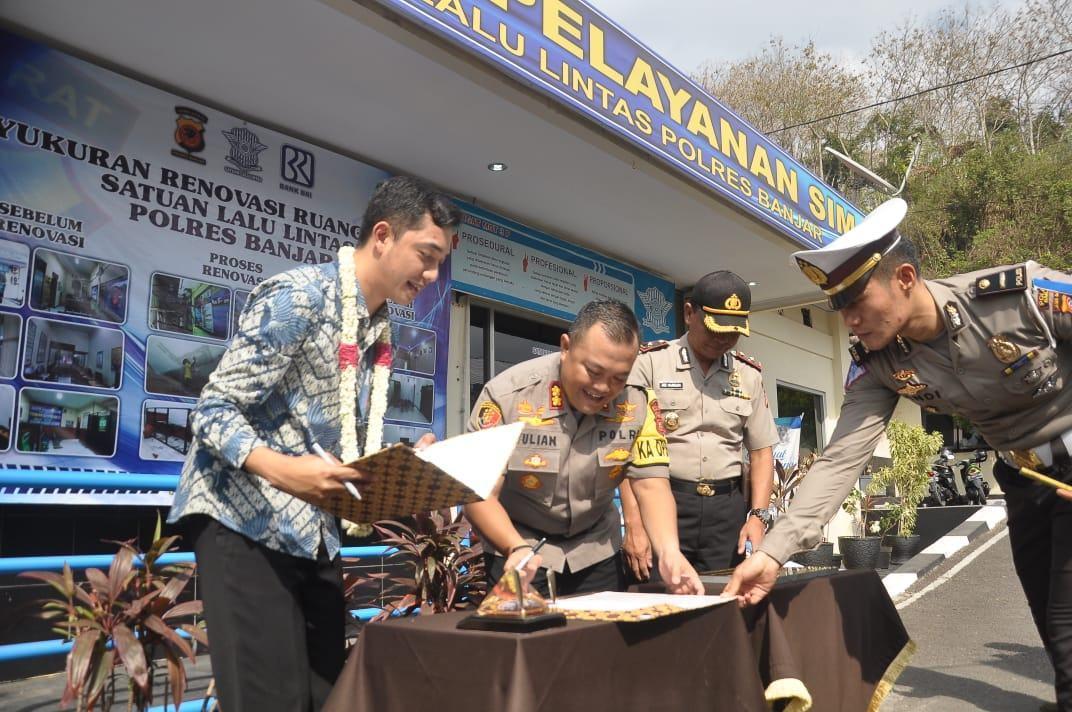 Kapolres Banjar, Resmikan Gedung Satlantas Polres Banjar