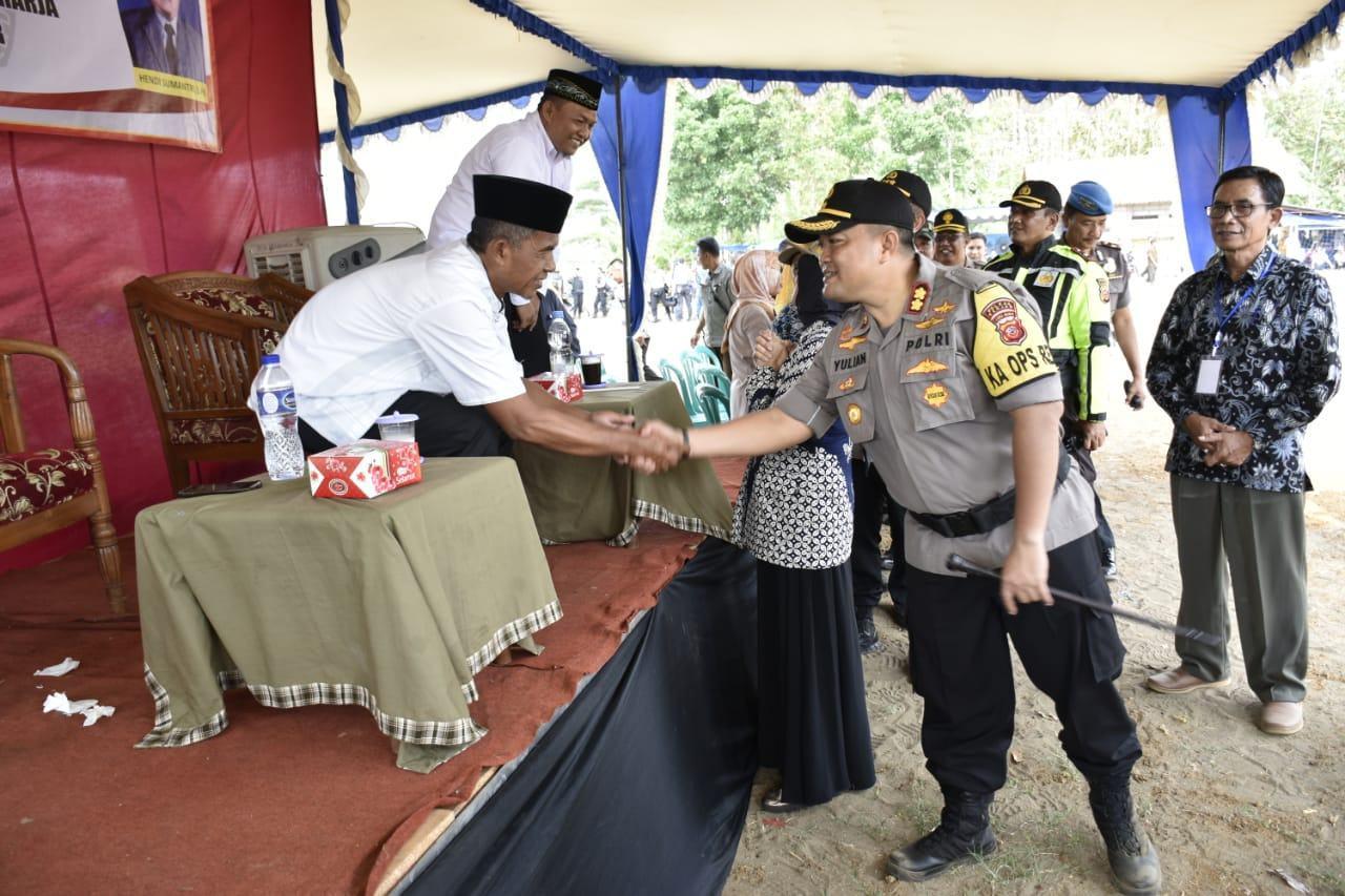 Kapolres Banjar, Tinjau Langsung Proses Pilkades Serentak 2019