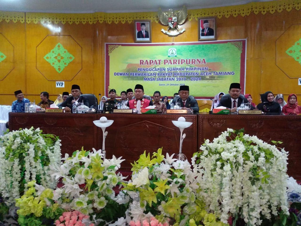 DPRK Aceh Tamiang, Pengangkatan Sumpah Ketua dan Wakil