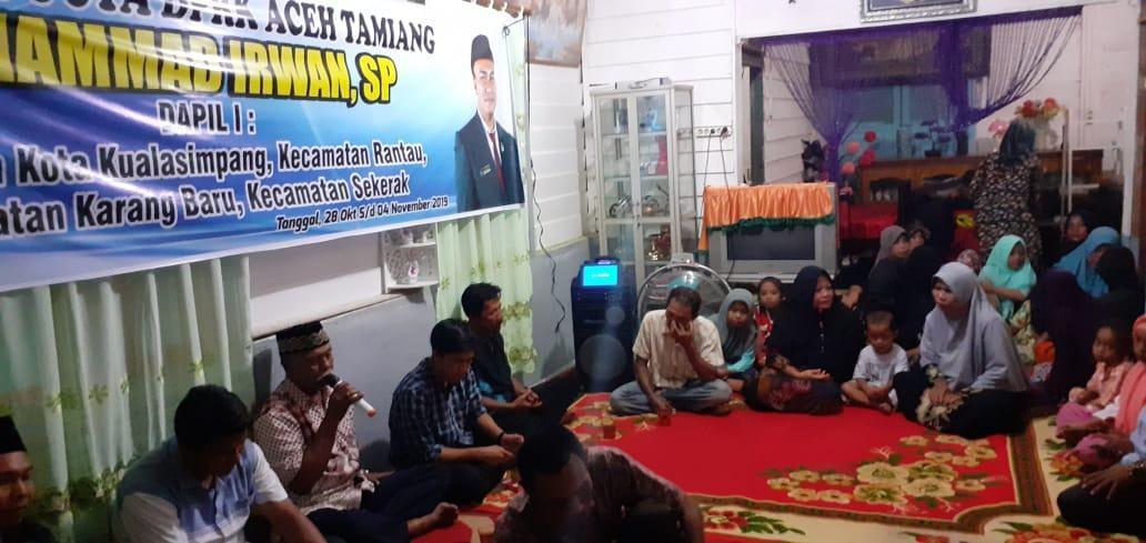 Anggota DPRK Aceh Tamiang, Dengarkan Keluhan Masyarakat