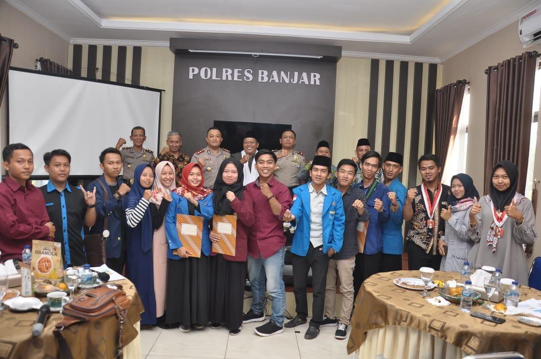 Kapolres Banjar, Gelar FGD Peran Pemuda Dalam Menanggulangi Intoleransi