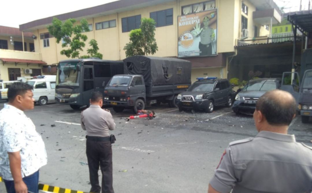Bom di Poltabes Medan, Begini Komentar Netizen