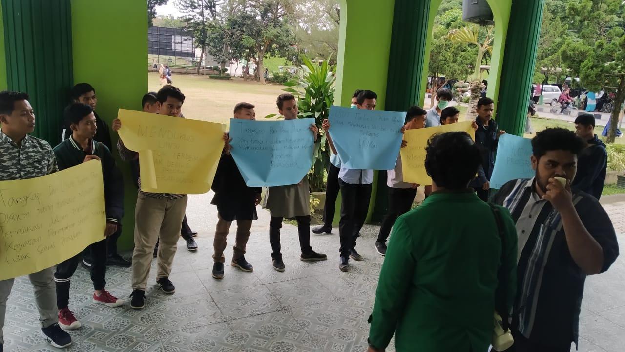 Aksi Mahasiswa UINSU, Desak Rektor Pecat Dosen Tidak Terpuji