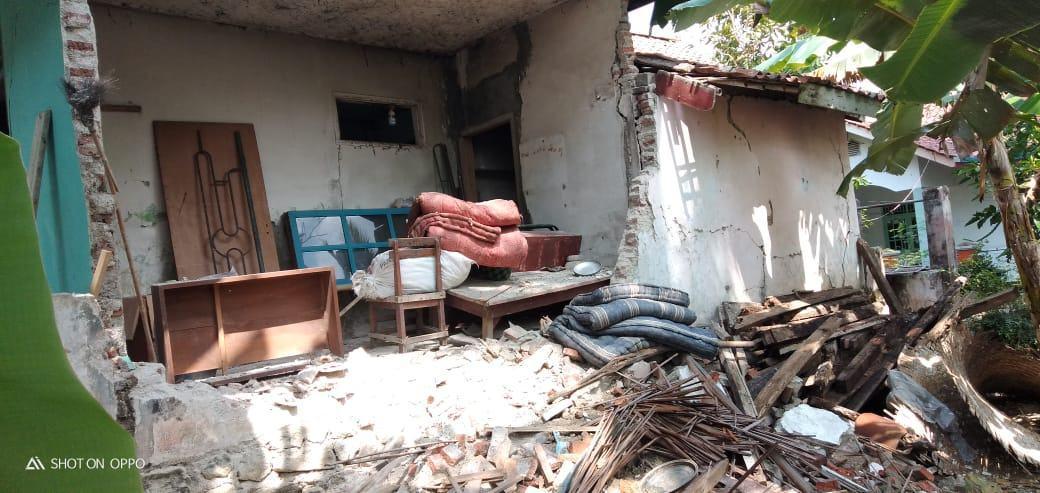 Angin Kencang Ciamis, Dinding Rumah Warga Ambruk