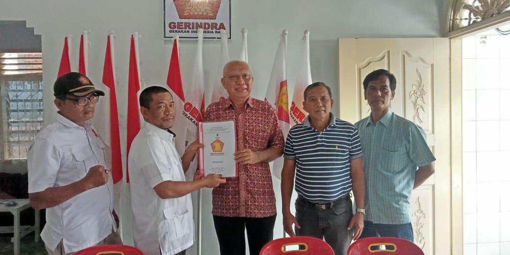Tamzil Ridha Mengembalikan Berkas Pendaftaran Cakada di Gerindra, Optimis Maju!