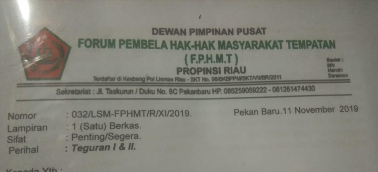DPC LSM Penjara: FPHMT Riau Diduga Provokasi Masyarakat Desa Sungai Tampang