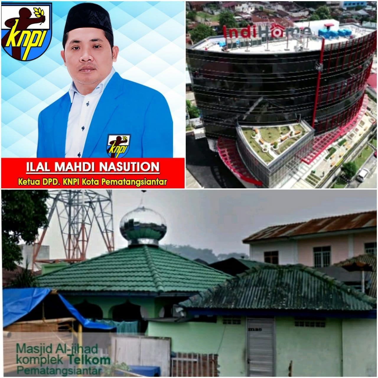 KNPI Pematangsiantar : Minta Pertanggungjawaban PT Telkom Indonesia Terkait Masjid