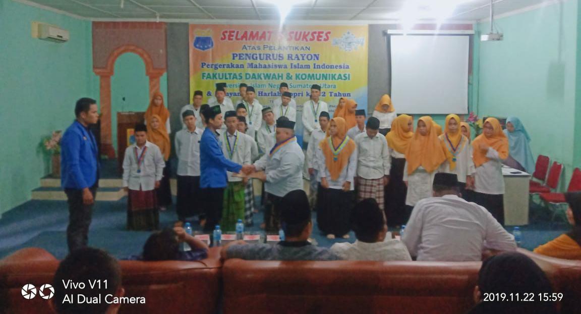 Pelantikan Pengurus Rayon PMII FDK UIN-SU 2019-2020