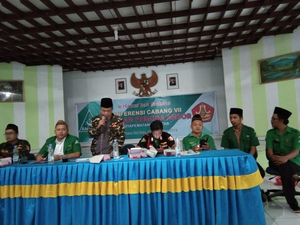 Kofercab VII GP Ansor Pematangsiantar : Ridwan Akbar M. Pulungan Ketua Terpilih