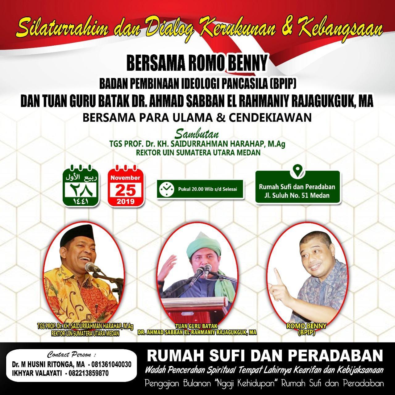 Rumah Sufi dan Peradaban, Gandeng BPIP Gelar Silaturrahmi-Dialog 100 Ulama