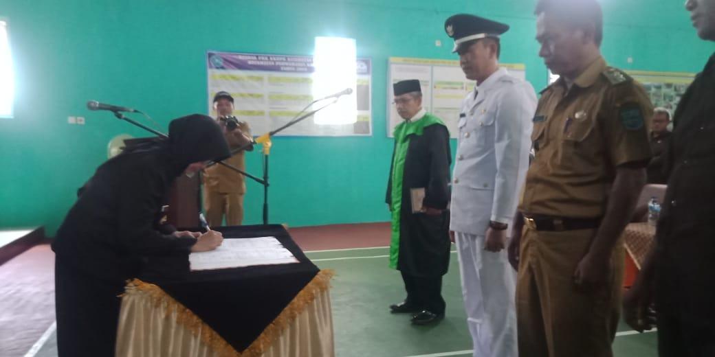 Walikota Banjar, Hadiri Pelantikan Kepala Desa Terpilih Desa Raharja