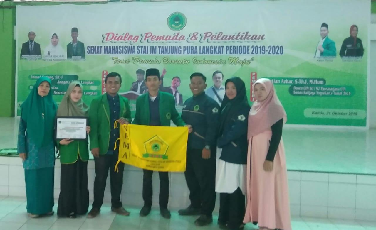 Ketua STAI JM Tanjung Pura, Lantik Pengurus Senat Mahasiswa