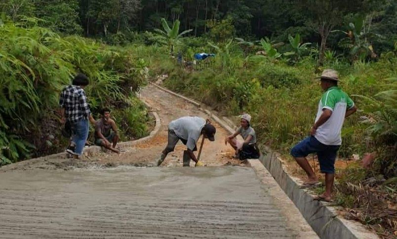 Masyarakat Desa Simaninggir, Apresiasi Kinerja Kades Untuk Infrastuktur Jalan