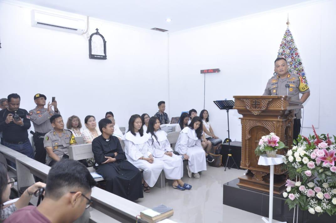 Kapolres Banjar, Cek Situasi Gereja