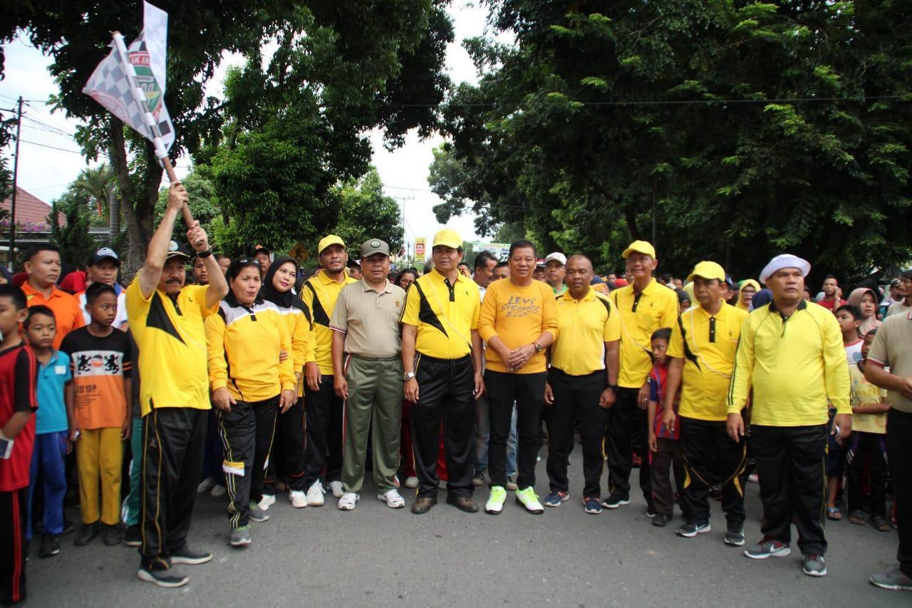 HUT PGRI Ke-74, PGRI Labuhanbatu Laksanakan Gerak Jalan Santai dan Lucky Draw