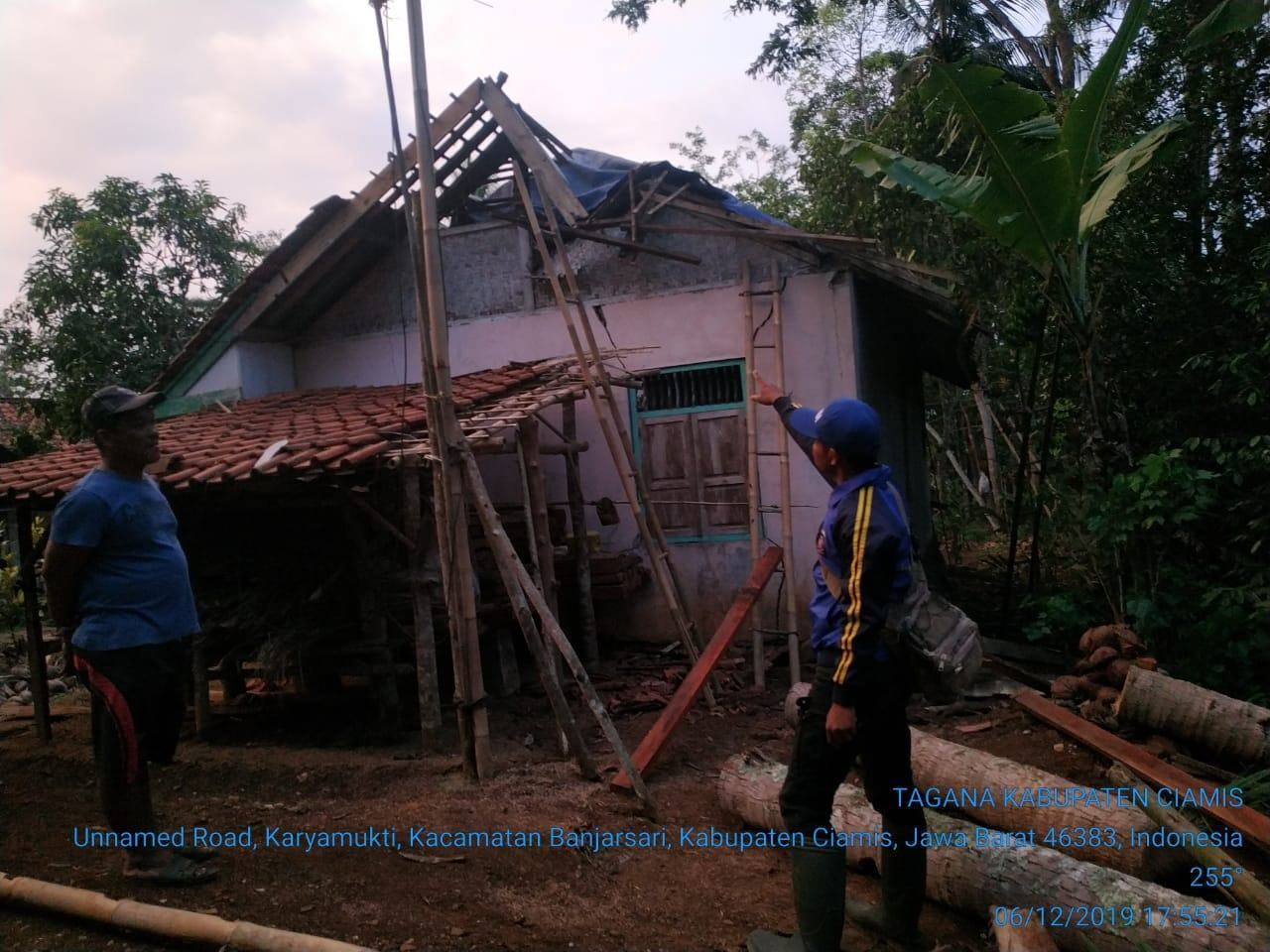 Hujan Deras Disertai Angin Kencang di Ciamis, Puluhan Rumah Warga Rusak