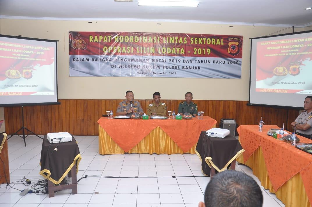 Operasi Lilin Lodaya Tahun 2019, Polres Banjar Gelar Rakor