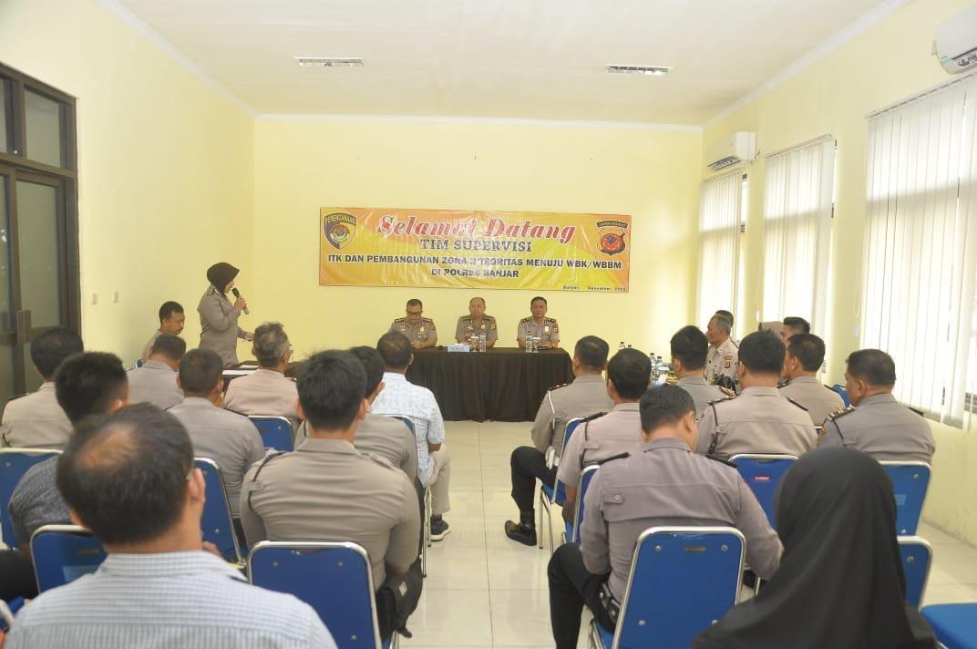 Polres Banjar, Terima Kunjungan Tim Asistensi ZI