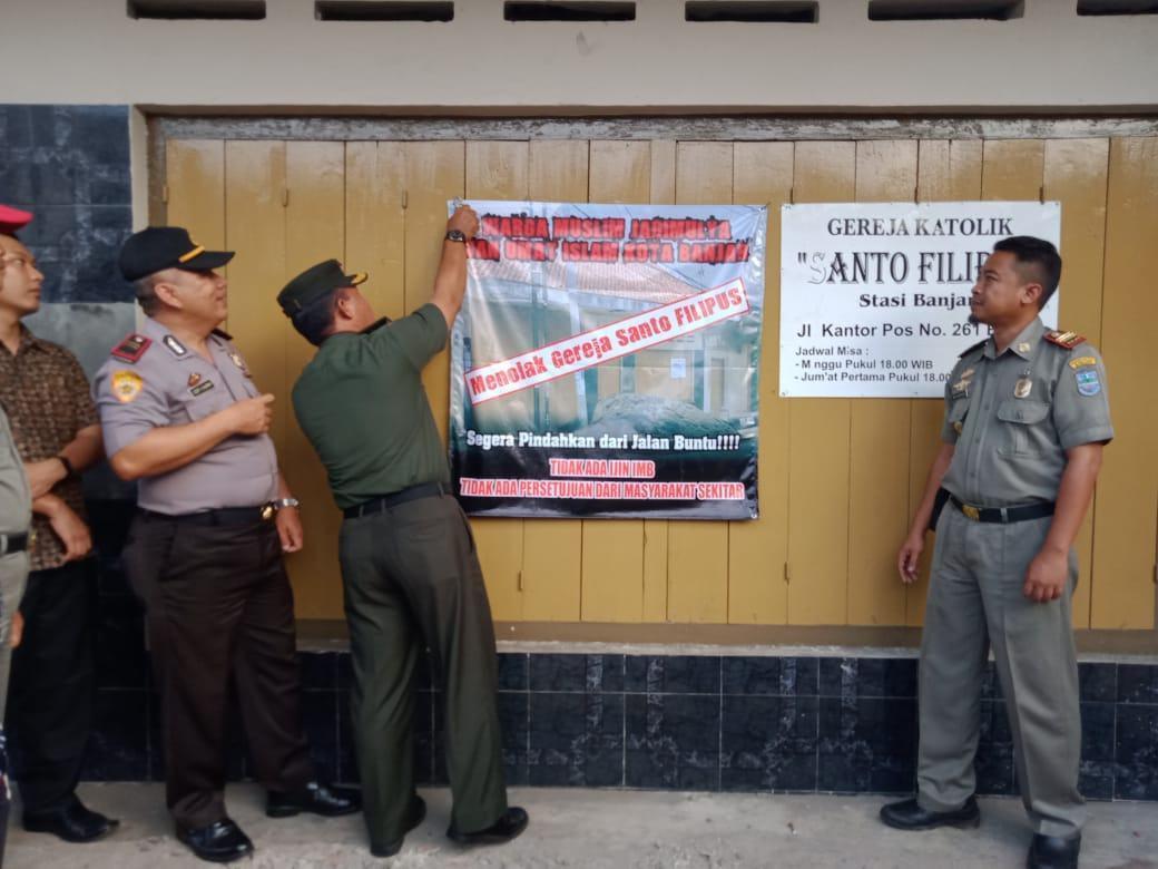 Gereja Santo Filipus, Kapolres Banjar : Masyarakat Jangan Terprovokasi