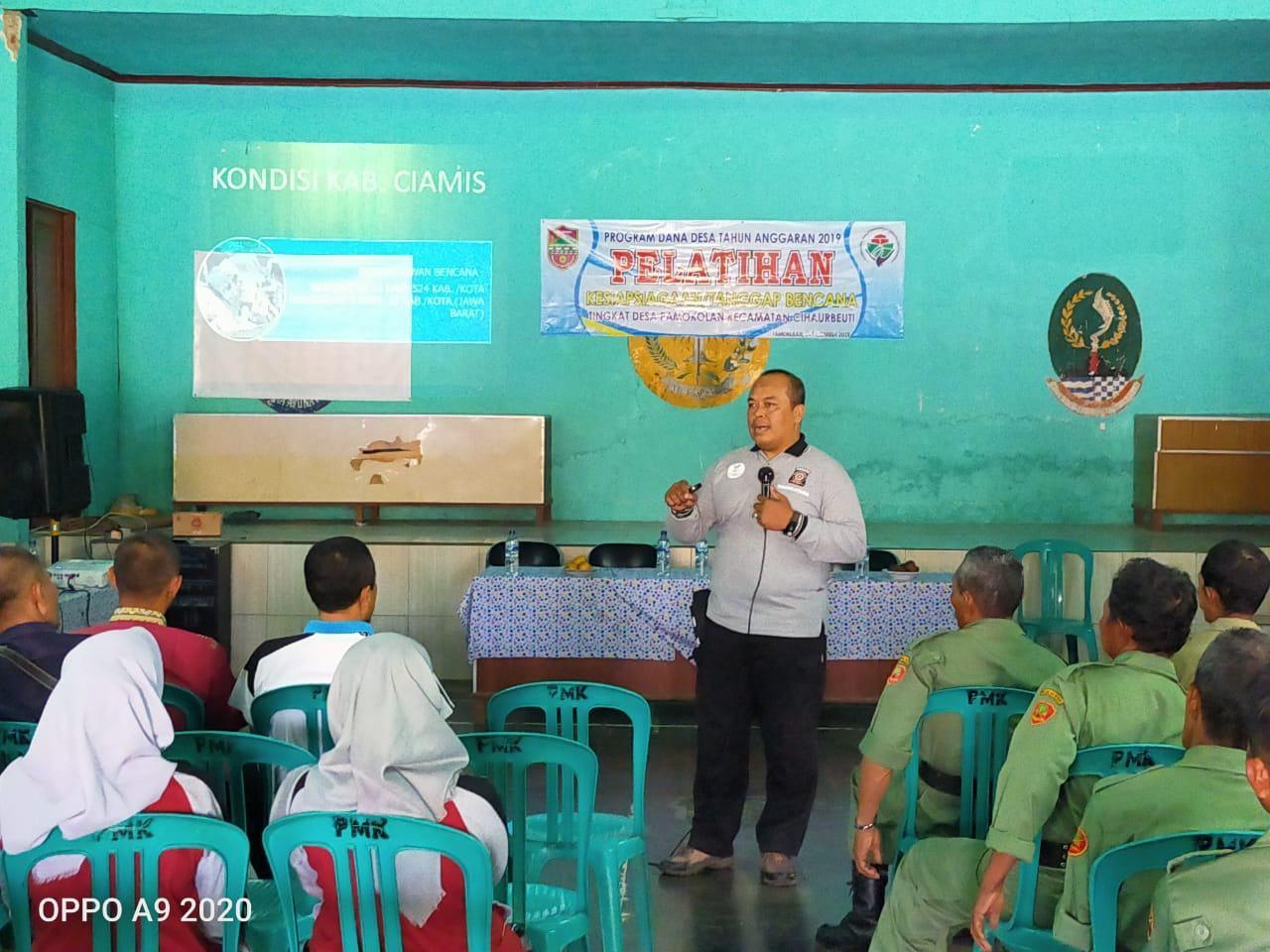 Tagana Ciamis, Narasumber Pelatihan Kesiapsiagaan Tanggap Bencana