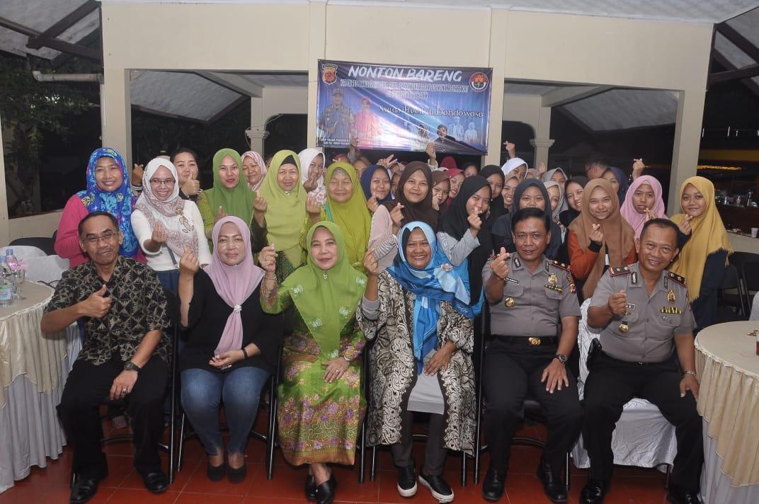 Peringatan Hari Ibu ke-91, Polres Banjar Adakan Nobar