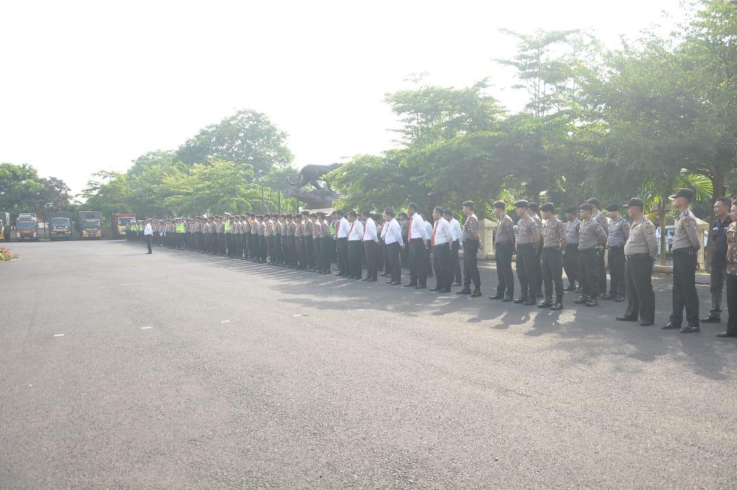 Kapolres Banjar, Pimpin Apel Pegeseran Pasukan Operasi Lilin Lodaya 2019