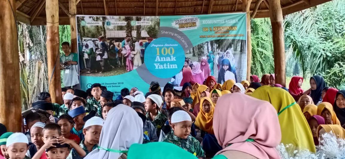 Komunitas Sabila, Sehari Piknik Bersama 100 Anak Yatim