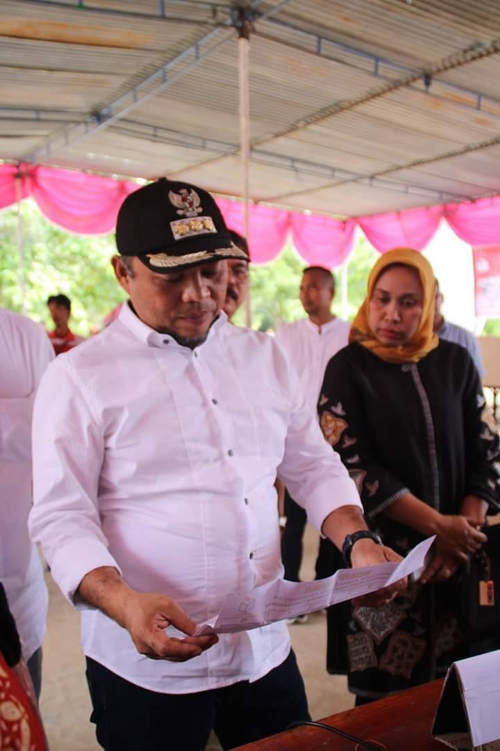 Bupati dan Ketua DPRD Labuhanbatu, Monitoring Pilkades Serentak