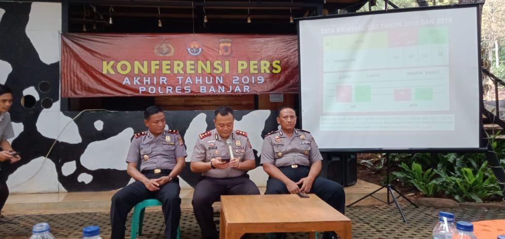 Kriminalitas di Banjar Tahun 2019 Menurun, Dibandingkan 2018