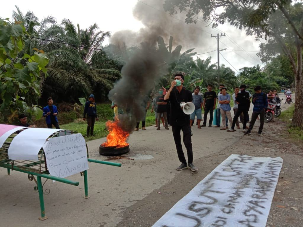 Masyarakat Wampu, Minta Kapoldasu Tindak Oknum Polisi Represif pada Massa Aksi