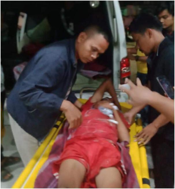Korban saat dirawat di RSUD Rantauprapat.