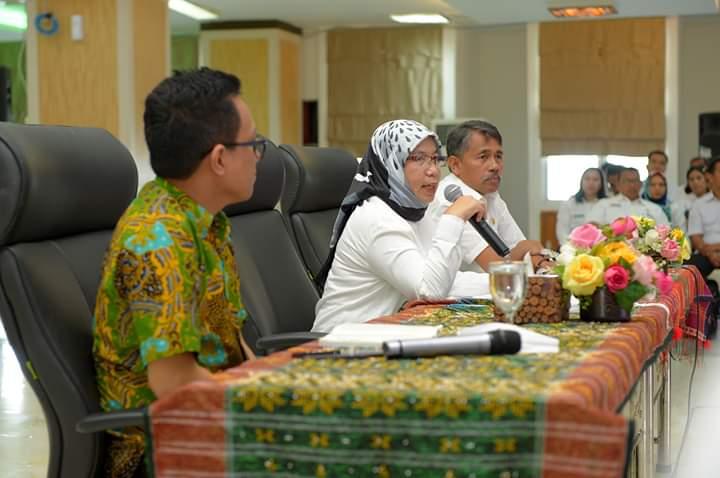 Rapat Penyusunan LPPD dan LKPJ 2019, Sabrina Minta Kabupaten/Kota Siapkan Laporan Lebih Cepat