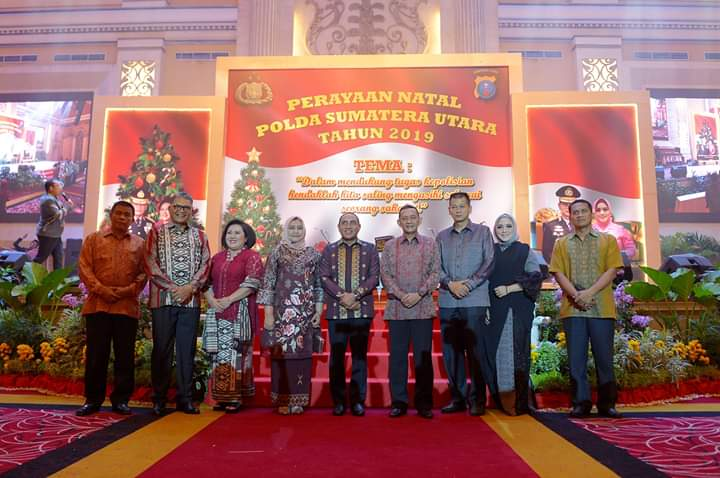 Perayaan Natal Polda Sumut, Gubernur Edy: Jadilah Sahabat untuk Semua