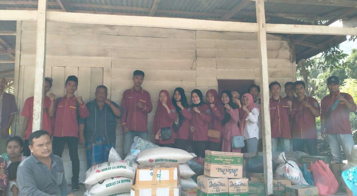 Gema Labura, Serahkan Bantuan untuk Korban Banjir Bandang di Desa Hatapang