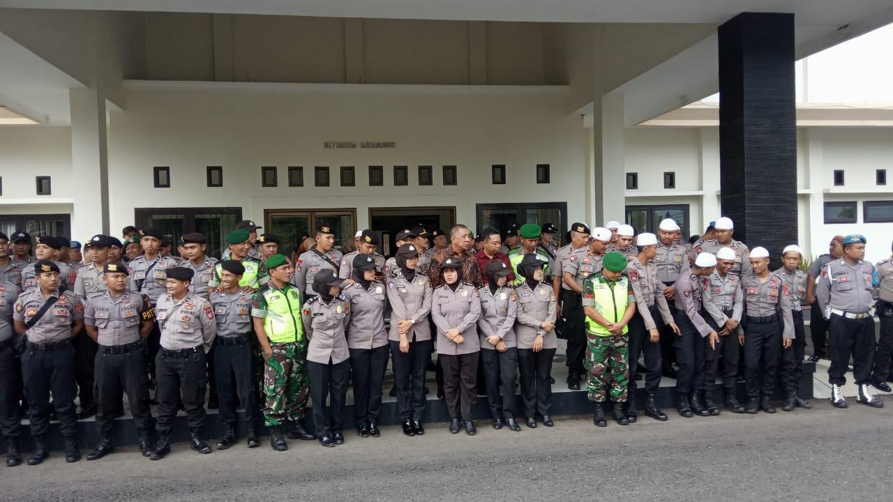 Polres Banjar dan Kodim 0613/Ciamis, Amankan Jalannya Aksi Damai Peduli Uighur