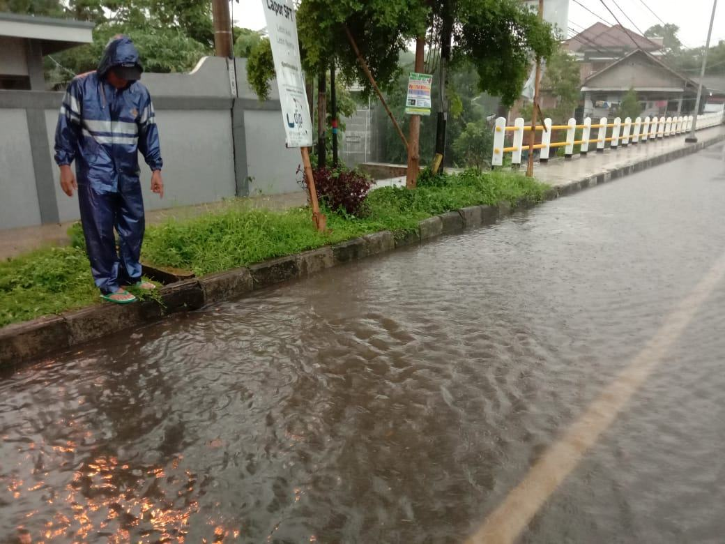 Hujan Lebat Ciamis, Sampah dan Drainase yang Buruk Penyebab Genangan Air