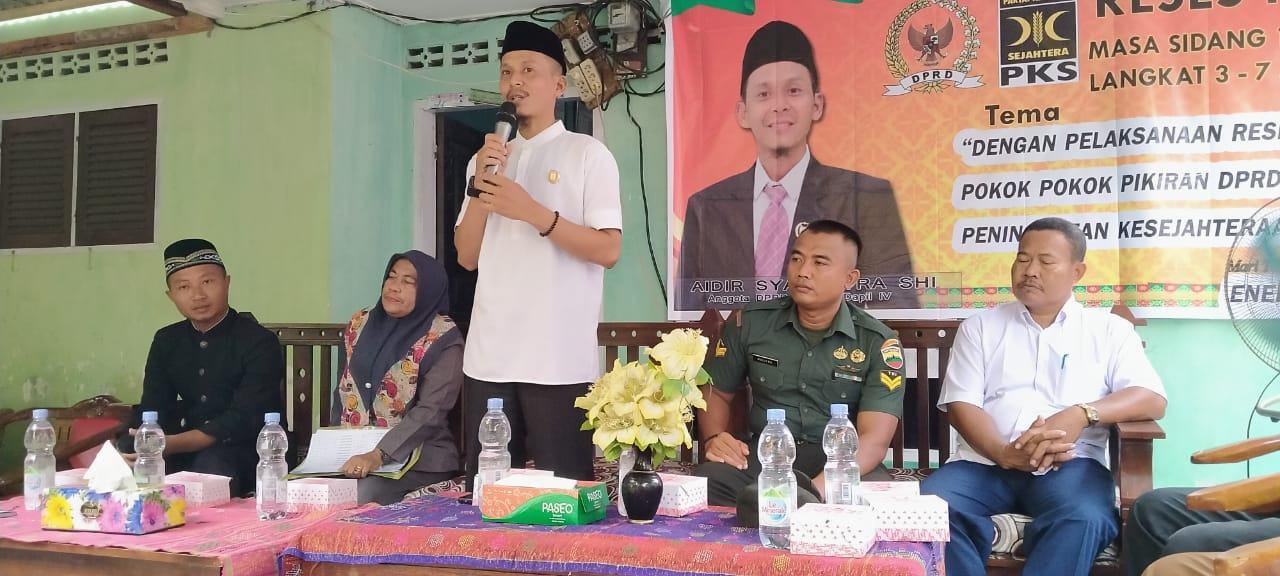 Reses Anggota DPRD, Warga Usulkan Pengaspalan Jalan Hingga Bangun Masjid