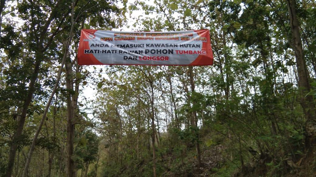 Perum Perhutani KPH Ciamis, BKPH Banjar Selatan, Himbau Bahaya Longsor